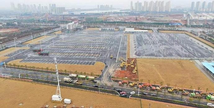 武汉第二所应急医院开工:建筑面积约3万平方米容纳2000医护人员,床位1500张